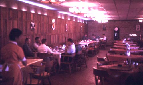 O Club dining room.