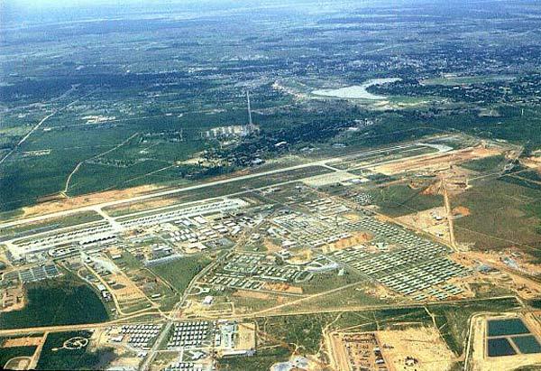 Aerial view of Korat RTAFB, mid-1967.