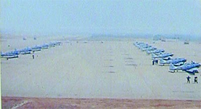The Thai Air Force area on the North end of the field.
