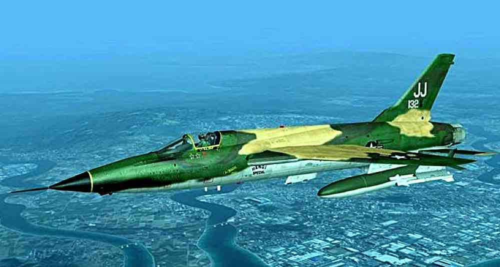 Dave Waldrop got 2 MiG 17 kills with this aircraft.