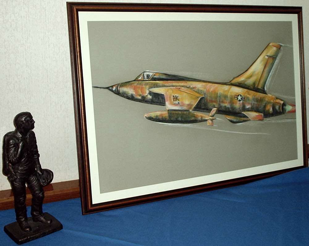 F-105 picture at the Officer's Club.