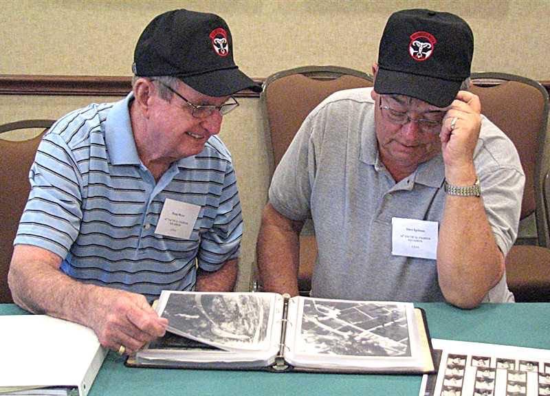 Doug Beyer & Dave Igelman looking over downtown targets hit.