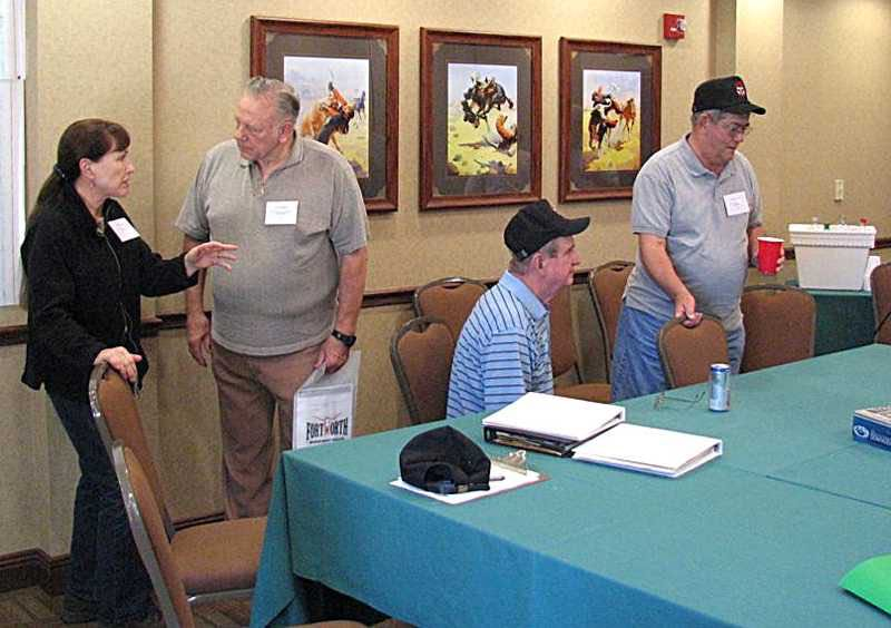 Sally LeVine, Larry Hoppe, Doug Beyer & Dave Igelman in hospitality room.