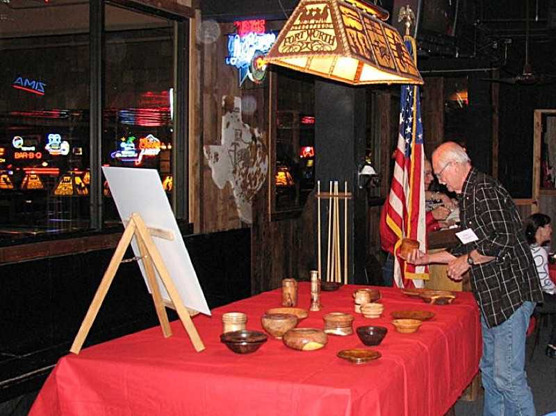 Each guy is given a beautiful wooden bowl made by Ken.