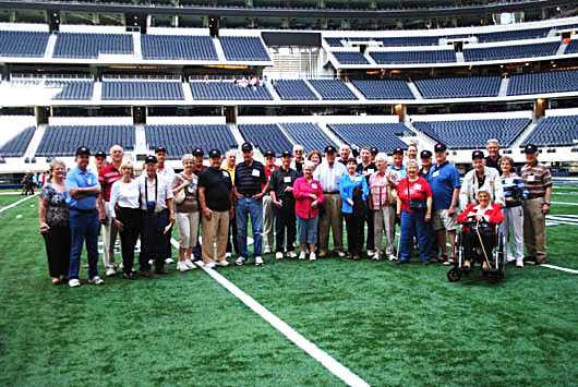 The gang at center field.