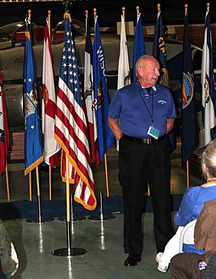 John Wambough talks to the troops.