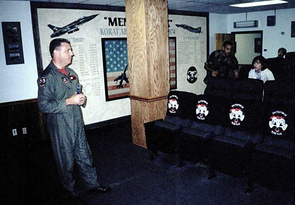 34 FS Briefing Room - Lt Col Don Bolling - Dedication.