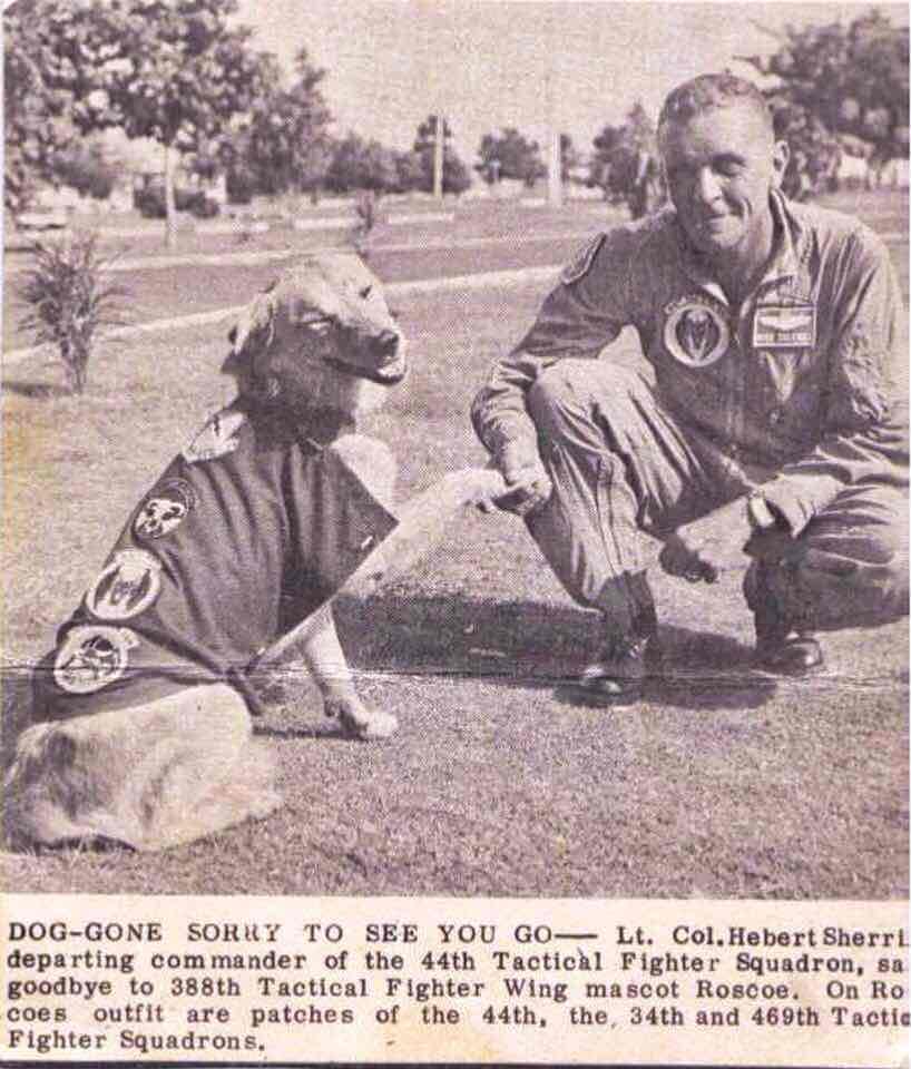 Roscoe shakes hands.