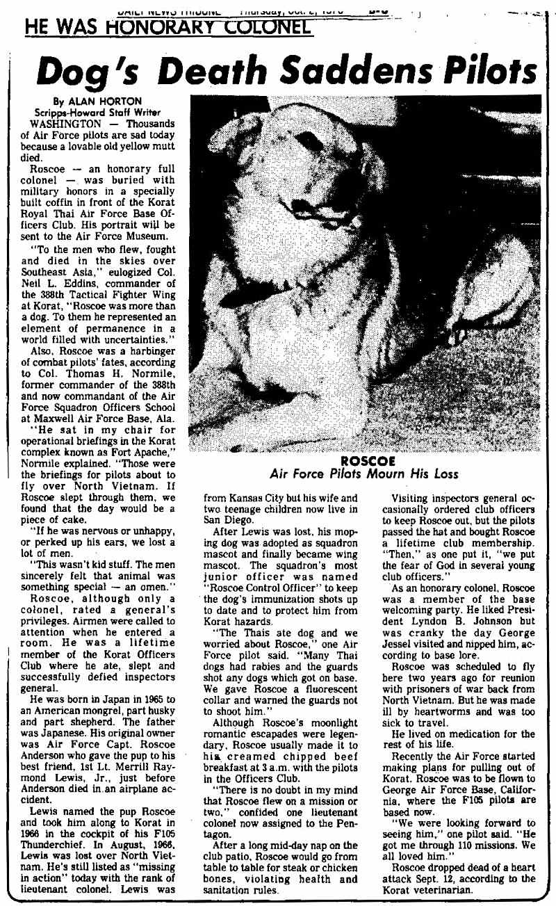 Roscoe death article.